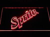 Sprite Soda LED看板 ネオンサイン ライト 電飾 広告用標識 W40cm x H30cm レッド