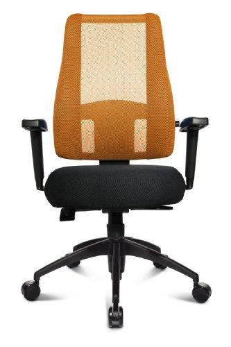 Topstar LT20BTW504 Bürostuhl Lady Sitness Deluxe inklusiv höhenverstellbare Armlehnen (schw./schw.-orange)