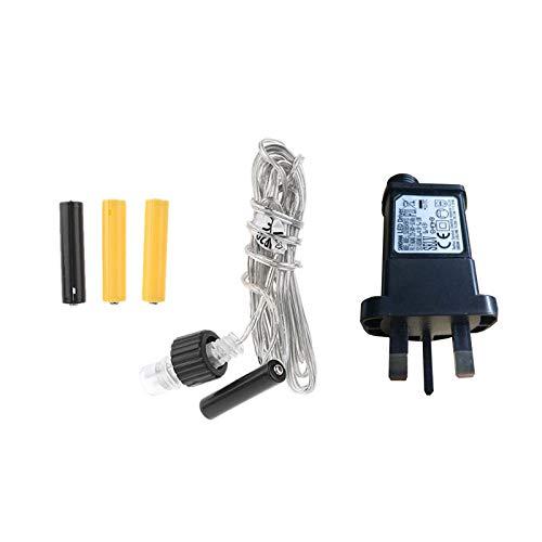 Adaptador de fuente de alimentación, AA AAA, adaptador de fuente de alimentación para reemplazar 2 pilas 3 x para radio de luz LED, 3 m