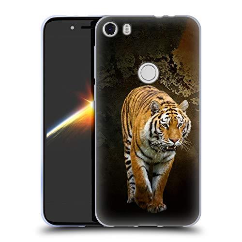 Head Case Designs Offizielle Simone Gatterwe Sibirischer Tiger Tiere Soft Gel Huelle kompatibel mit Alcatel Idol 5