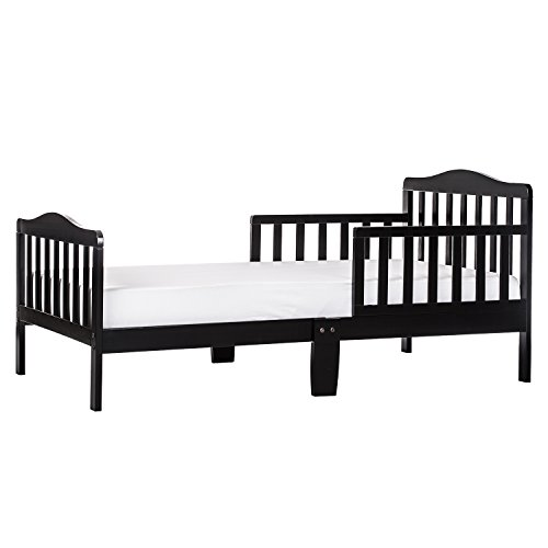 Dream On Me Classic Design Toddler Bed in Black, Greenguard Gold Certified