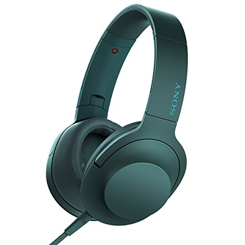 Sony h.ear on Premium Hi-Res Stereo Headphones (wired), Viridian Blue