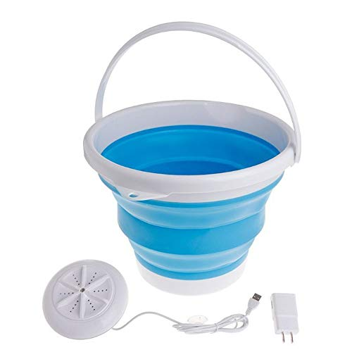 portable clothes washers Portable Ultrasonic Turbine Washing Machine with Foldable Bucket USB Laundry Clothes Washer Cleaner for Home Travel Portable Clothes Washer,Portable Washing Machine for Camping, Apartments, RV's