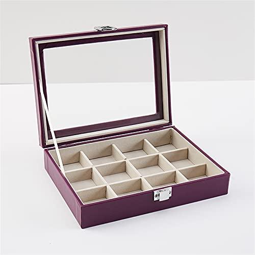 RWEAONT De Moda portátil PU Anillo de Joyas de exhibición de Joyas Organizador Caja Bandeja de Bandeja Pendiente Joyería de Almacenamiento Caja de Almacenamiento (Color : 5)