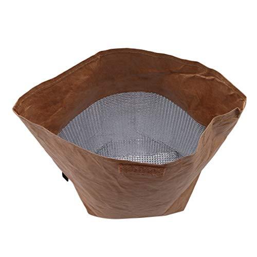 Bolsas de almuerzo de papel kraft reutilizables aisladas térmicas bolsa de comestibles reutilizable bolsa de almuerzo impermeable bolsa duradera y útil