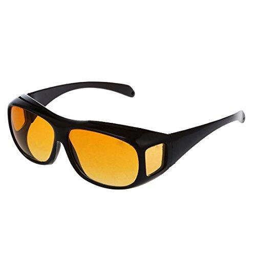 SODIAL(R) Auto KFZ Brille Sonnenbrille Nachtfahrbrille Nachtsichtbrille Kontrastbrille ideal gegen blendendes Licht bei Nachtfahrten