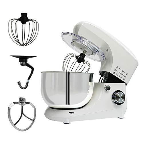 HEN'GMF Küchenmaschine Rührmaschine, 1200 W in 6 Leistungsstufen, Planetarisches Rührsystem, 5L Edelstahlschüssel