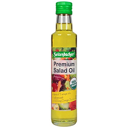 Seitenbacher Organic Oil, Omega 3 Salad Oil, 8.4-Ounce Bottles, 2 Count