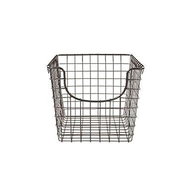 Spectrum Diversified Scoop Storage Basket, Small, Industrial Gray