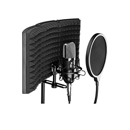 Premium Folding Geluidsisolatie Vocal Booth, Microfoon Isolation Shield Recording geluiddemper Foam Panel voor Recording Studio zangmicrofoon