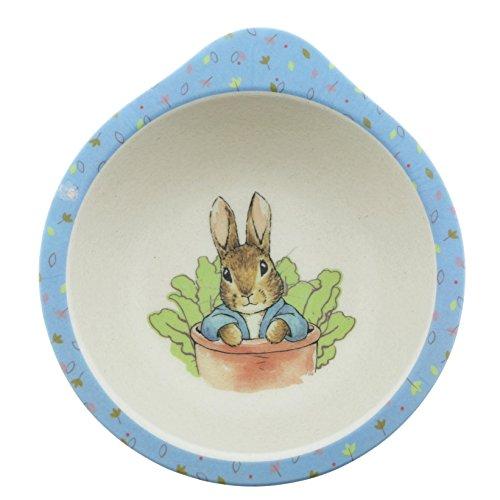 Beatrix Potter A28793 Peter Rabbit - Cuenco orgánico (12,5 x 12,5 x 5 cm)