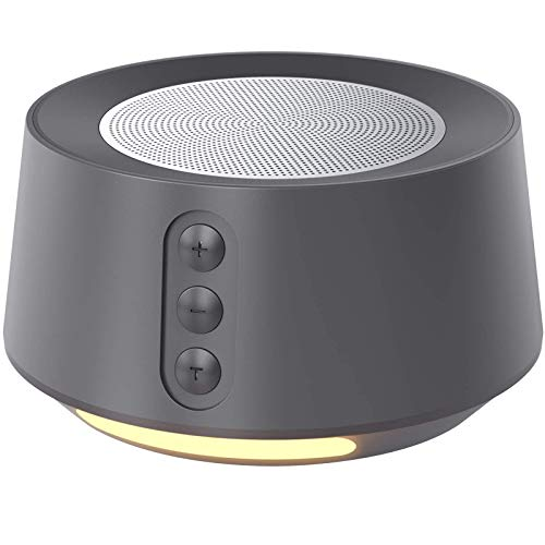 Letsfit White Noise Machine with Night Light for Sleeping, 14 High Fidelity Sleep Machine Soundtracks, Timer & Memory Feature, Sound Machine for Home, Office Grey
