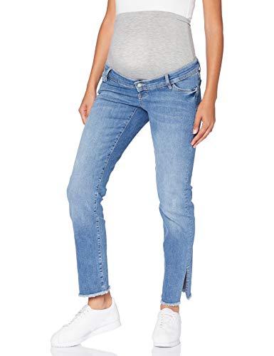 MAMALICIOUS MLCRYSTAL Straight Cropped Jeans, Mezclilla De Color Azul Claro, 31W x 32L para Mujer