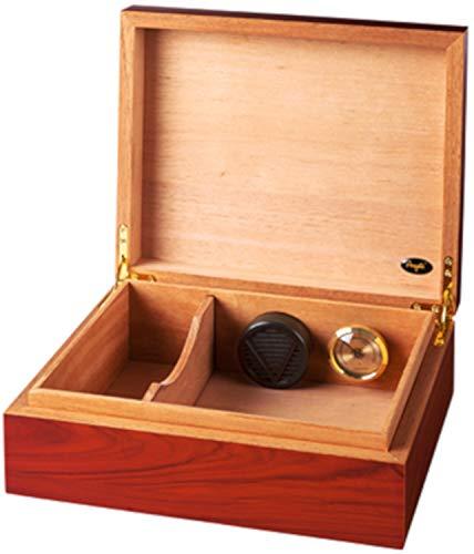 Angelo Zigarren-Humidor mit Holz-Deckel   für ca. 30 Robustos, 36 Cohiba Esplendidos, 85 Panetelas   90 x 270 x 225 mm   MDF-Holz, Spanisches ZEDERNHOLZ, braun   Bubinga   von bong-discount