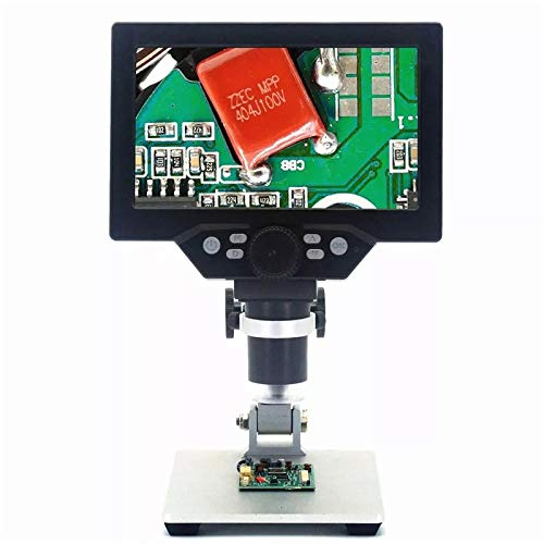 TheHAD G1200 Electronic Digital Microscope 12MP 7 Inch Large Screen HD LCD Display 1-1200X Continuous Amplification Magnifier Tool