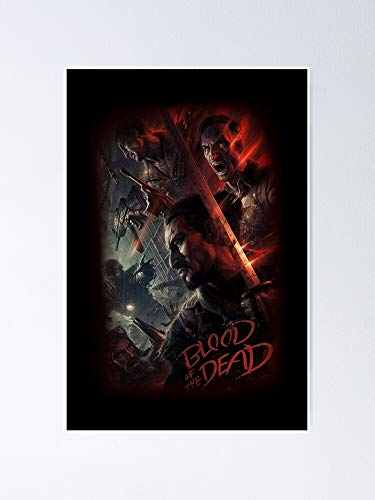 guyfam Cod Bo4 Zombies - Blood of The Dead Poster Loading Screen 12x16 Inch No Frame Board for Office Decor, Best Gift Dad Mom Grandmother and Your Friends