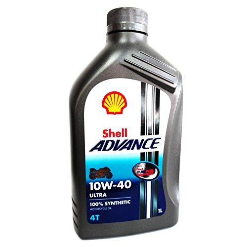 Shell Advance Ultra motorolie 10W40 4T API SM/JASO MA2-1 liter