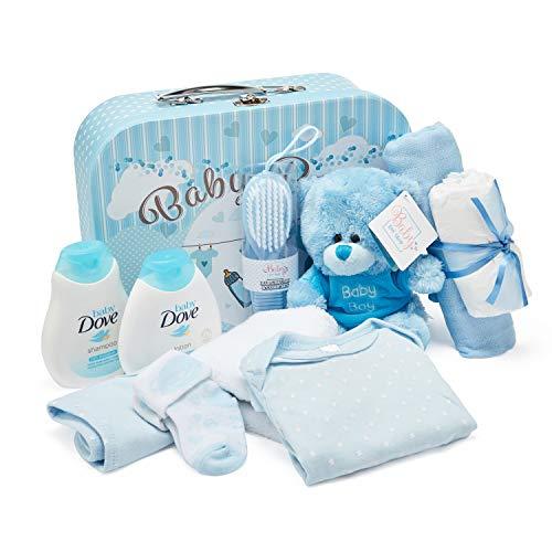 Baby Box Shop Baby Gift Set - Ropa de bebé, osito de peluche y artículos de tocador