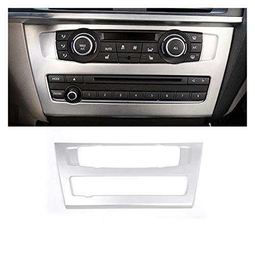 JIABIN Songz Store Coche Consola de CD Panel de CD Cubierta Decorativa Pegatina de Ajuste Ajuste para BMW X3 F25 Accesorios de Interior Tira (Color Name : Silver)