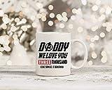 N\A Marvel Endgame Daddy We I Love You 3000 Ispirato Tazza Tony Stark Iron Man Cup Father 's Day Gift Dad Presente Regalo Personalizzato con NAM