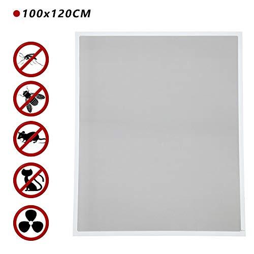 BMOT Fliegengitter fenster,100x120CM fliegengitter balkontür Alurahmen Mückenschutz Gaze Gaze Mückengitter UV-Schutz Wasserdicht Für Wohnzimmer Fenster Balkone