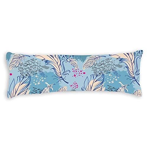 Fhdang Decor Plume Body Pillow Case Soft Cotton Lavable en Machine avec Fermeture éclair Maternité Grossesse, Coton, Super King 6ft (72'')