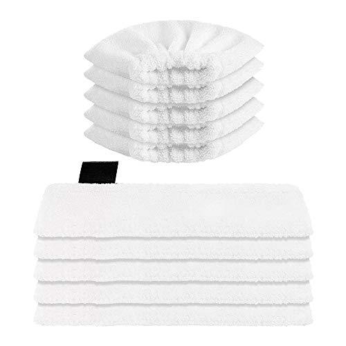 bobotron Paño de microfibra lavable (5 boquillas de suelo + 5 boquillas para mano) para limpiador de vapor Karcher EasyFix SC2, SC3, SC4, SC5.