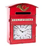 Guarda llaves reloj pared metal (28x12x36cm)