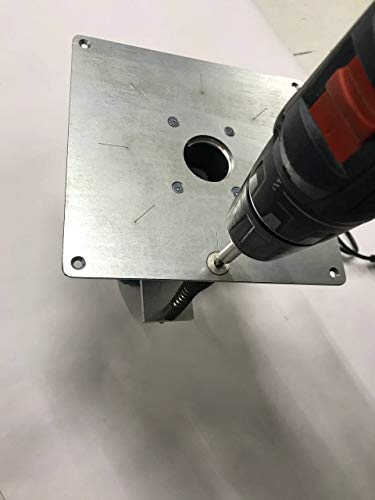 Tuneon Oberfräsenlift mit Platte Stahl Frästisch passend für MAKITA RT0700 KATSU 101750 Oberfräse