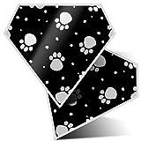 Impresionante 2 pegatinas de diamante de 10 cm – diseño de huellas de animales de perro gato veterinario calcomanías divertidas para portátiles, tabletas, equipaje, libros de chatarra, neveras, regalo genial #42370