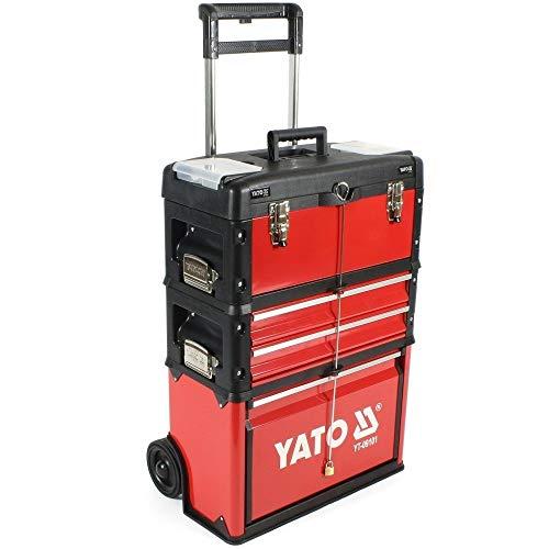 Yato YT-09101 Werkzeugkasten, Schwarz, Rot