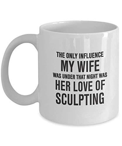 Wife Love of Sculpting – Regalo para mamá, papá, compañero de trabajo, amigos, familia – Taza de café blanca de 11 oz