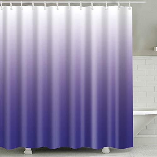 Hibbent Duschvorhang, 180x180 Schimmelresistenter 12 Haken -lila(180 * 180cm)