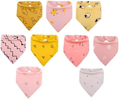 Viedouce Bibs for Baby Girl Bandana Drool Bibs Cotton Burp Cloths for Drooling Teething Toddler product image