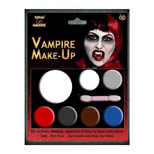 Angies Fashion Ltd Kits de maquillaje de Halloween zombi vampiro diablo completo conjuntos de maquillaje todo en uno conjunto de listado (maquillaje de paleta multi vampiro)