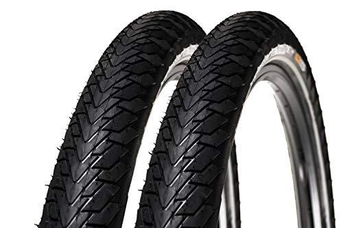 2 Stück 28 Zoll Continental Contact Cruiser Fahrrad Reifen 28x2,2 Mantel 55-622 Tire E-25 schwarz
