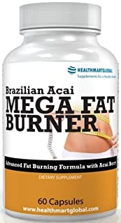 Garcinia Cambogia for Weight Loss - Brazilian Acai Mega Fat Burner 65% HCA Thermogenic Hyper Metabolizer Diet Pill Weight Loss Green Coffee Bean Extract Weight Control Fat Burner