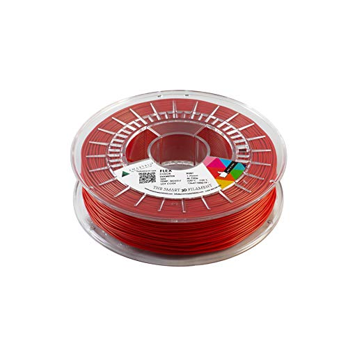 smartfil, smflx0re0a075, filamento elastico E flessibile per stampante 3d, 1.75mm, 750G, Ruby