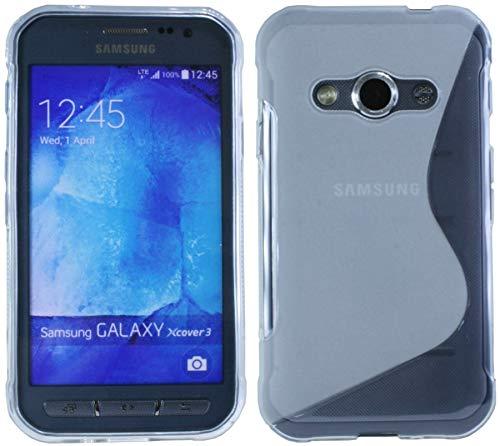 Energmix Custodia protettiva in silicone per Samsung Galaxy Xcover3 G388F, guscio in TPU trasparente