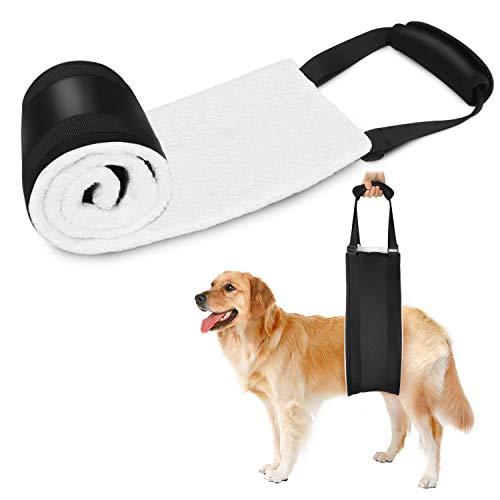 Becotop Hundegeschirr Tragehilfe Neue verbesserte Version 2020 Tragehilfe for Hunde Hundegurt Verstellbar Hinterbeine Tierarztgeprüft Hüftstützgeschirr bei Altersschwäche Behinderungen Rehabilitation