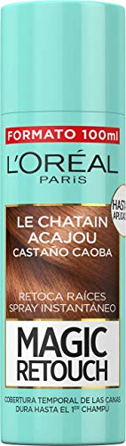 L'Oréal Paris Magic Retouch Spray Retoca Raíces y Canas, Castaño Caoba - 100 ml