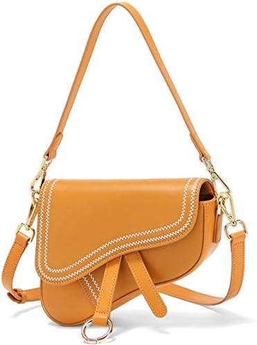 Women s Vintage Stitching Mini Saddle Bag Crossbody Shoulder Strap Small Purse Tan product image