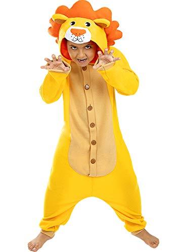 Funidelia | Disfraz de león Onesie para niño y niña Talla 3-4 años ▶ Animales, Desierto - Color: Marrón - Divertidos Disfraces y complementos para Carnaval y Halloween