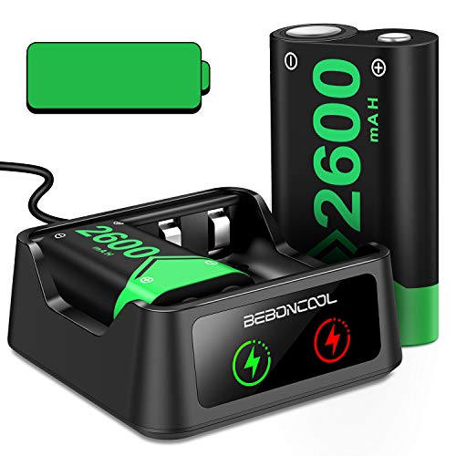 Rechargeable Battery for Xbox Series X|S /Xbox One Controller, 2x2600mAh Battery Pack Rechargeable with Station for Xbox One/One S/One X/Elite Controller, Controller Charger Station with Battery Pack