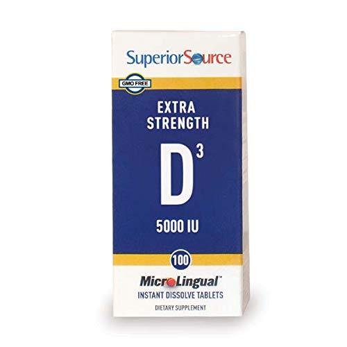 Superior Source, MicroLingual, vitamina D3 Sublingual - 5000
