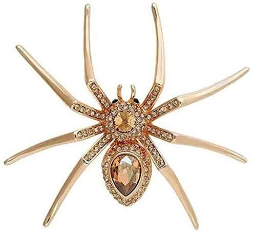WZH Spinnenbrosche, Kristallelement, europäischer Stil, für Party, Tanz, Bankett, Hochzeit 6 × 5,1 cm