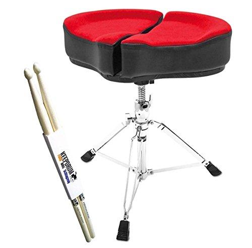 Ahead SPG-R Spinal Glide Drum Kruk Rugvriendelijk zadelzitting + Keepdrum Drumsticks