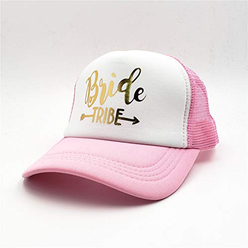 Gorra de Beisbol Bride Tribe Despedida de Soltera Snapback Trucker Hat Cap Team Bride Letras de Oro...