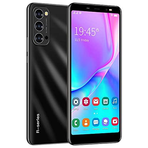 3G Telefonos Moviles, 5.5 Pulgadas Android Smartphone Telefono Movil Libres ,1GB RAM+4GB ROM Quad Core, Dual SIM Dual Standby, 2800mAh Batería Telefono Celular (Reno4-Negro)