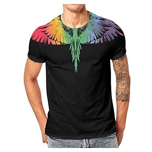 QWERT Herren Hawaiihemd Kurzarm Funky Hemd Lässiges Blume Shorts Urlaub Beach Party Hemd